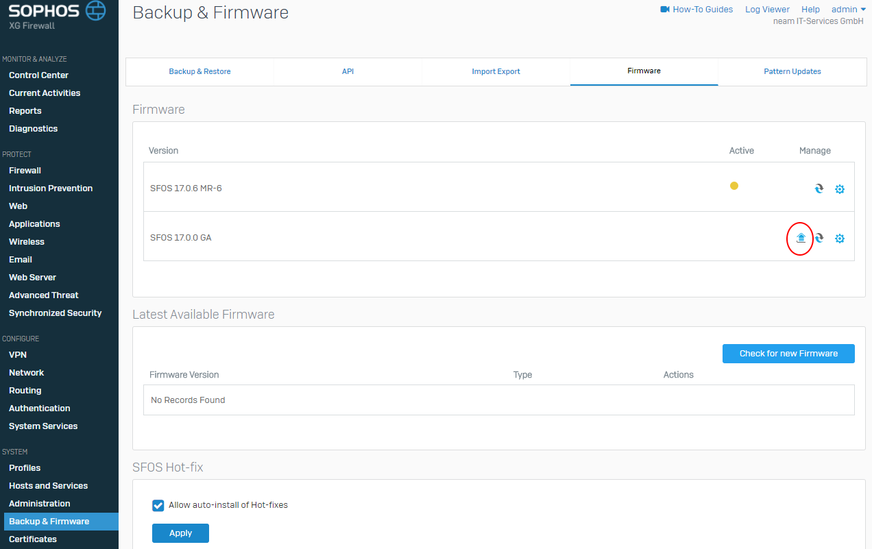 How to update Sophos XG firmware - Network Guy