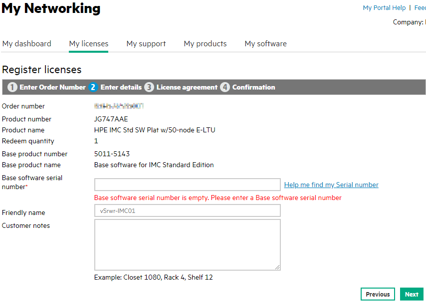 Activation of HPE/aruba IMC software - Network Guy